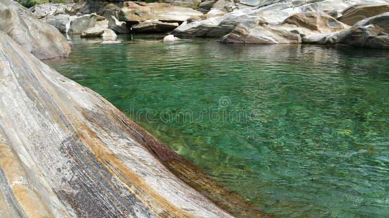 神秘的河 库存图片