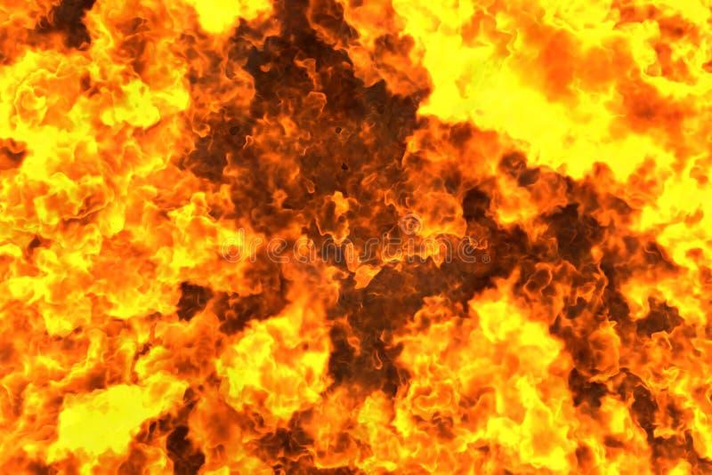 神秘的火焰状地狱摘要背景或纹理-火3D例证 向量例证