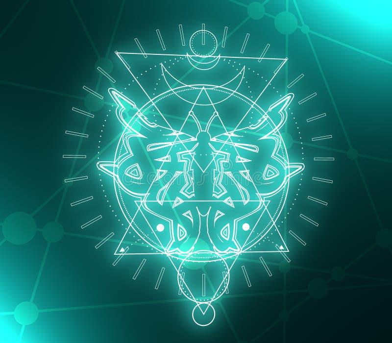 神秘的隐密标志 皇族释放例证