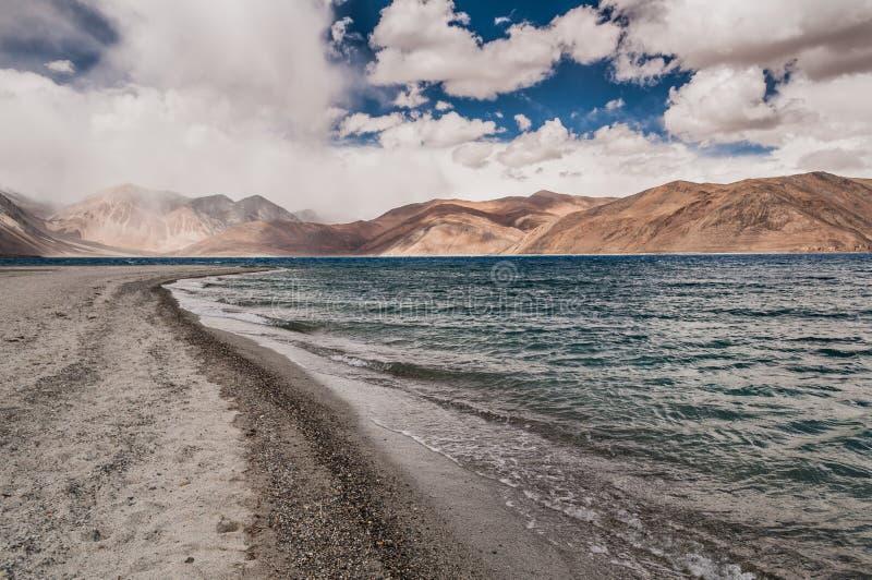 Pangong湖 图库摄影