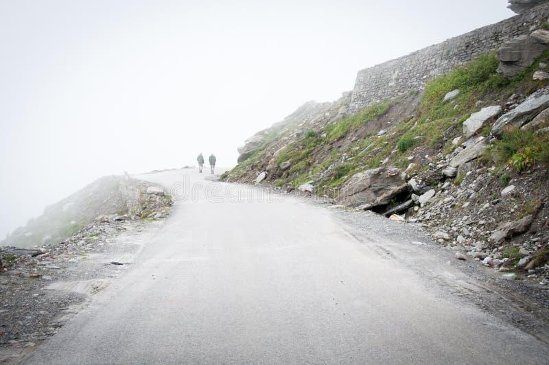 神秘雾的山 免版税图库摄影