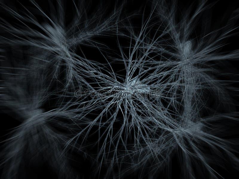 神经元网络放大   皇族释放例证