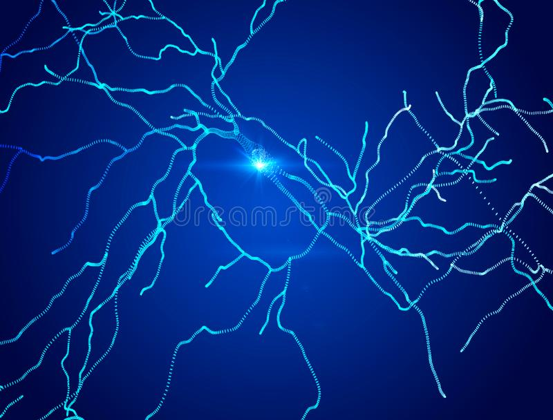 神经元,染色体结合,神经元神经网络电路,脑子,退化疾病,帕金森 皇族释放例证