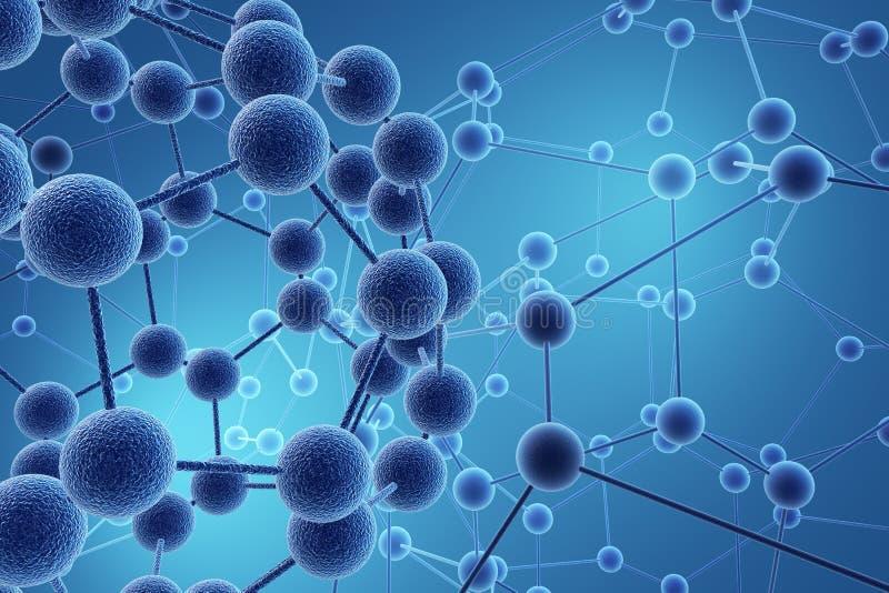 神经系统的网络 向量例证