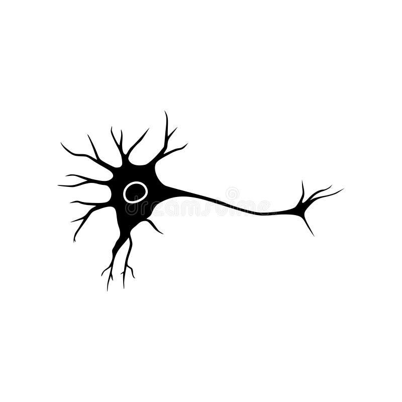 神经细胞象平的图形设计,神经元商标 皇族释放例证