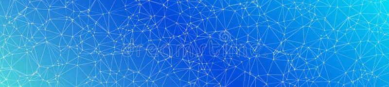神经网络算法图表概念、传染媒介线和小点 库存例证