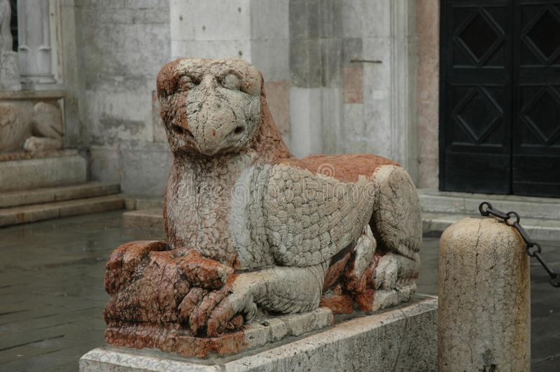 神话动物雕象 免版税库存照片