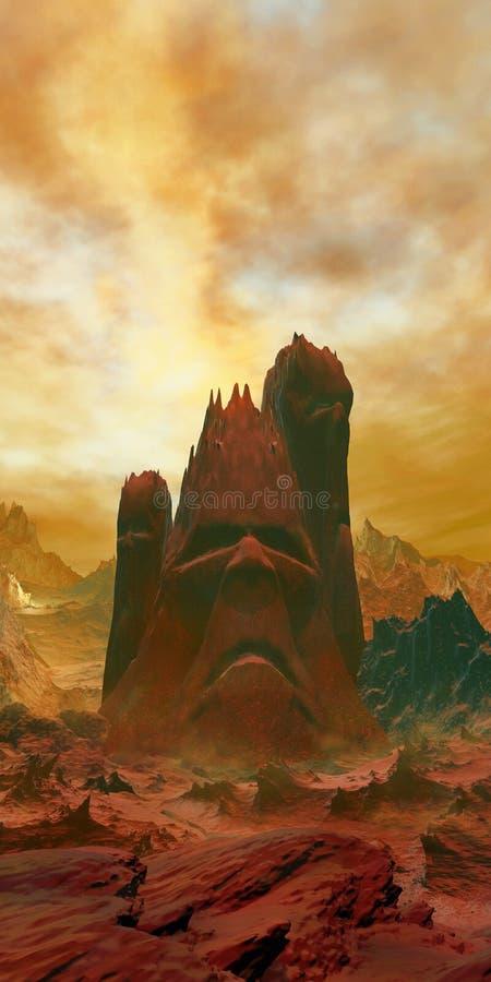 神话火山 皇族释放例证