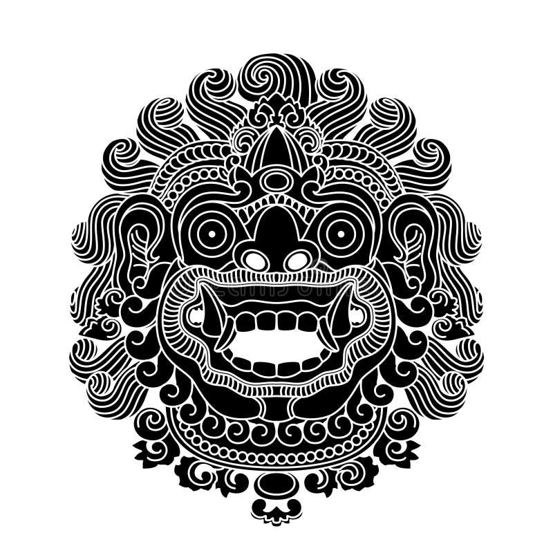 神话神头,印度尼西亚传统艺术 免版税库存图片