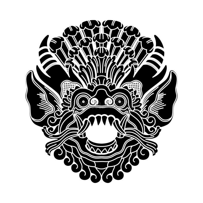 神话神头,印度尼西亚传统艺术 库存照片