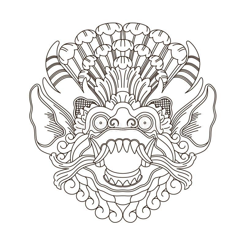 神话神头,印度尼西亚传统艺术 免版税图库摄影