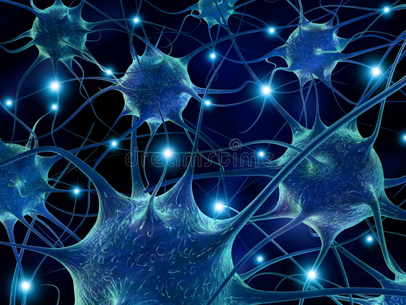 神经元。 库存例证