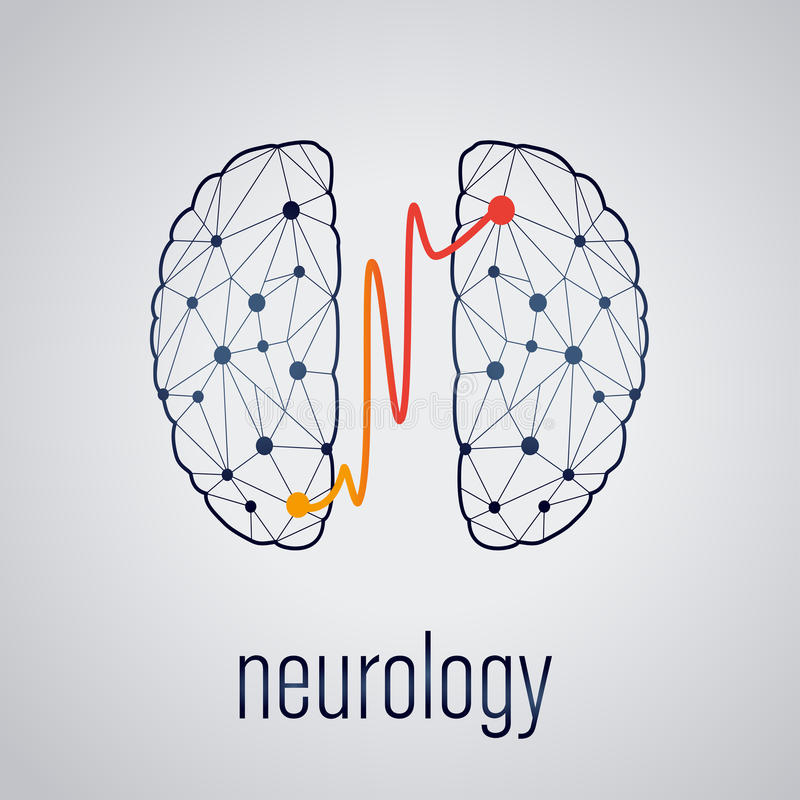 神经学概念 皇族释放例证
