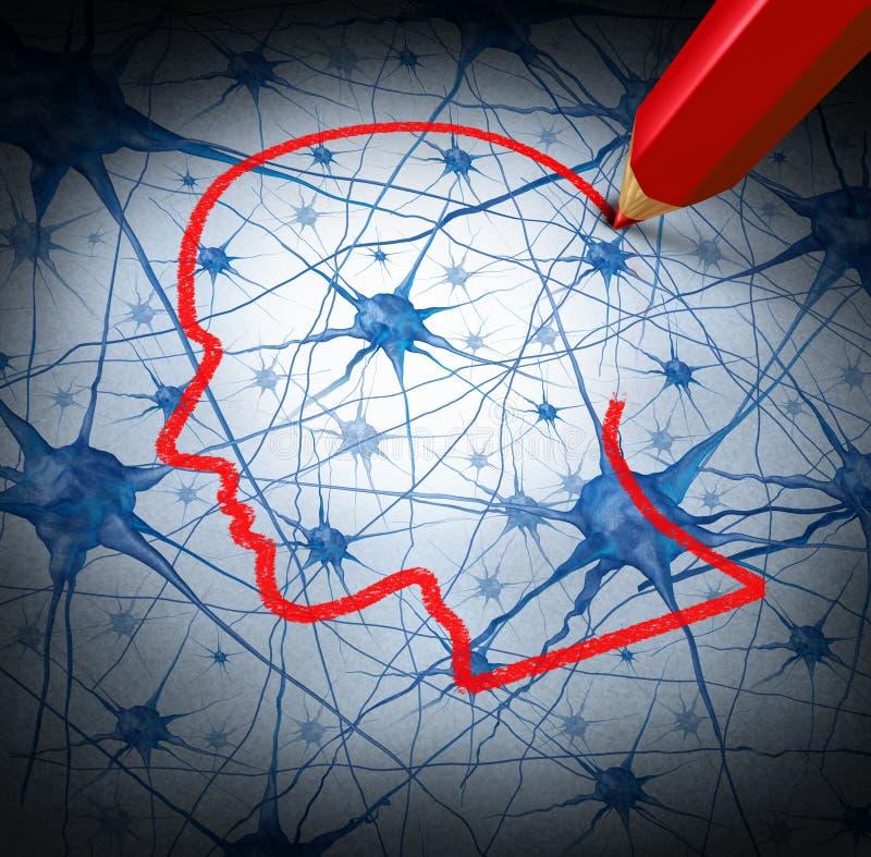 神经学研究 库存例证
