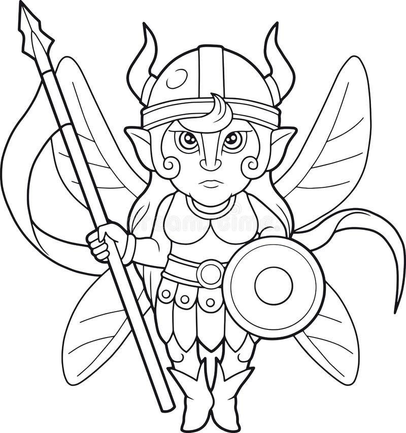 神仙的战士,彩图 库存例证