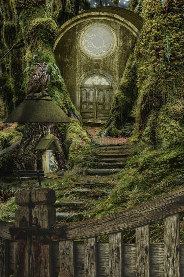 神仙的房子(木桶) 皇族释放例证