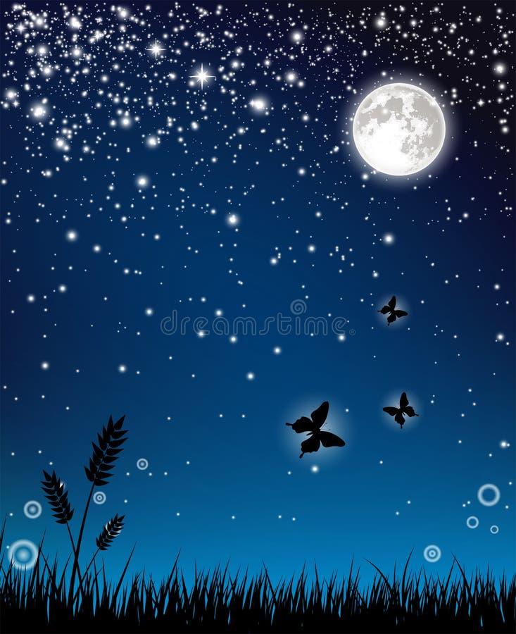 神仙的晚上 向量例证