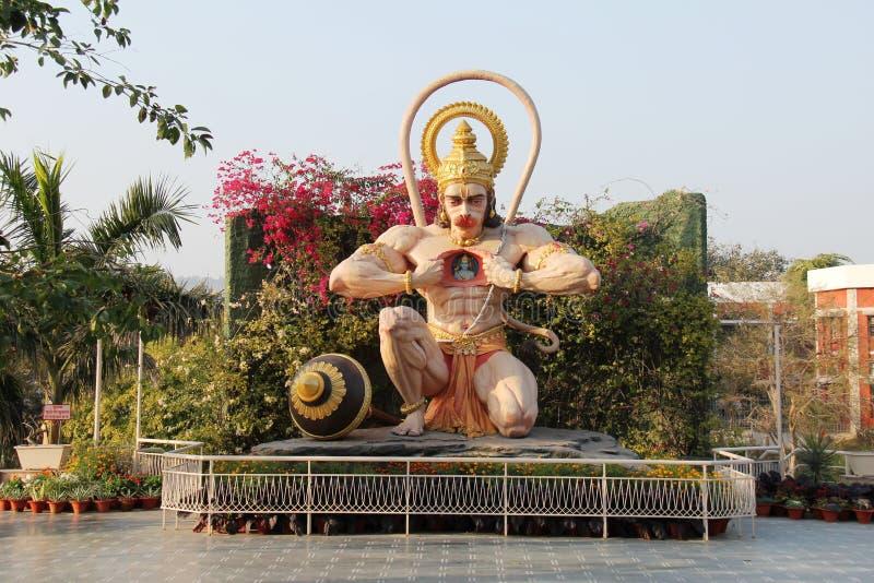 神hanuman印度雕象石头 库存照片
