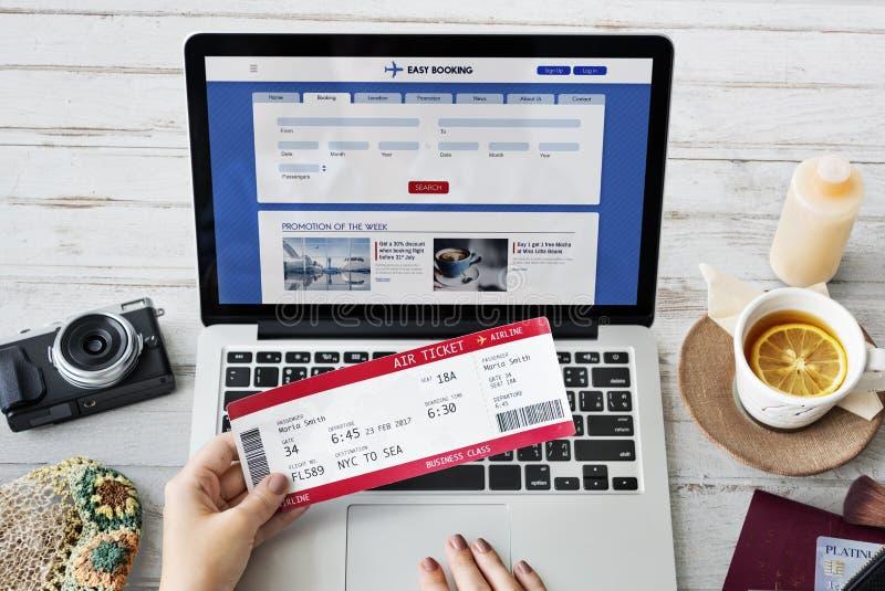 票售票旅行离开旅途概念 免版税图库摄影