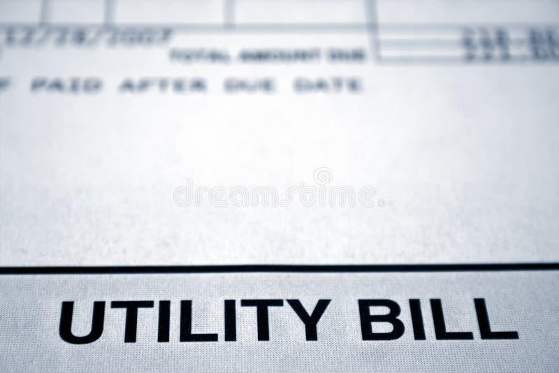 票据实用程序 免版税库存图片