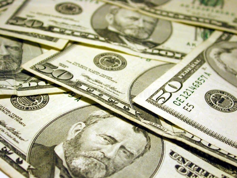 票据覆盖了美元五十 免版税图库摄影