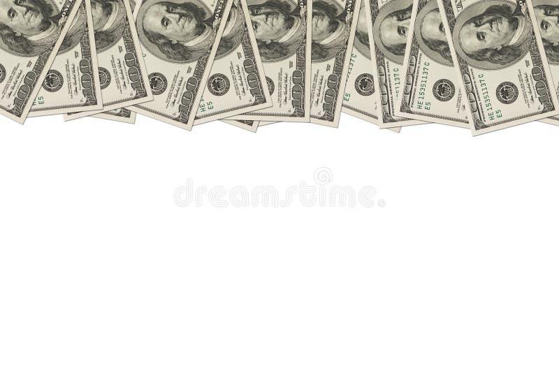 票据边界美元一百货币 图库摄影