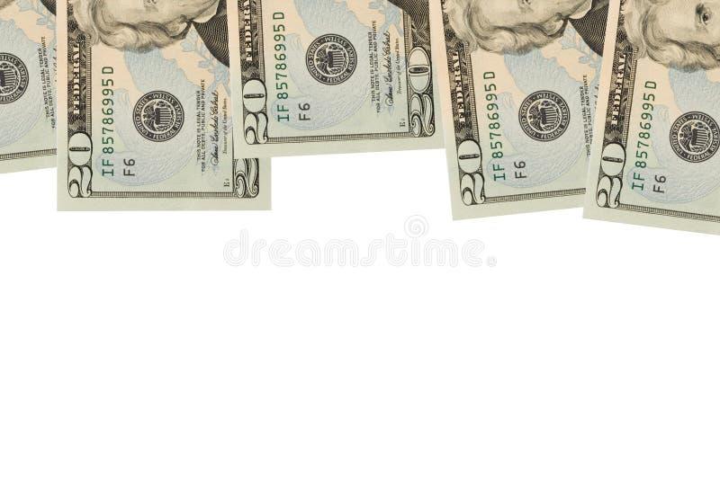 票据边界美元二十 库存图片