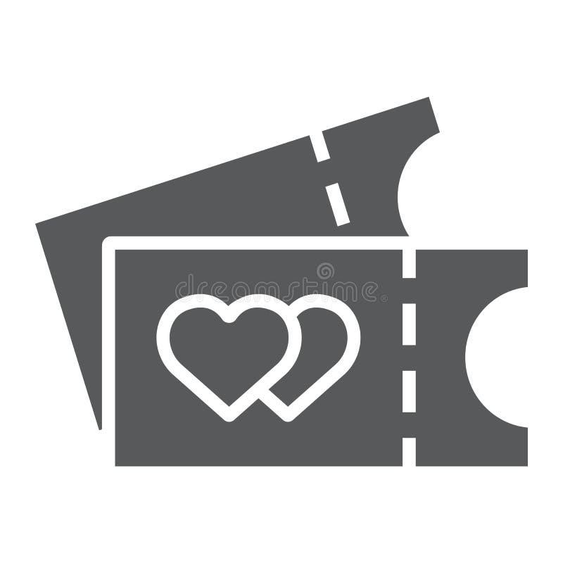 票纵的沟纹象、事件和通行证,戏院票签署,向量图形,在白色背景的一个坚实样式 库存例证