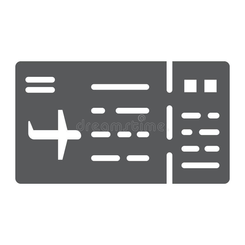 票纵的沟纹象、通行证和旅游业,飞机票标志,向量图形,在白色背景的一个坚实样式 向量例证