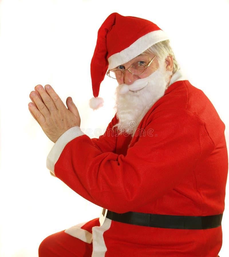 祷告圣诞老人 库存照片