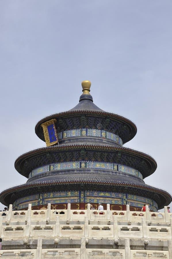 祷告的霍尔用修造从天坛的好收获的在北京 免版税图库摄影