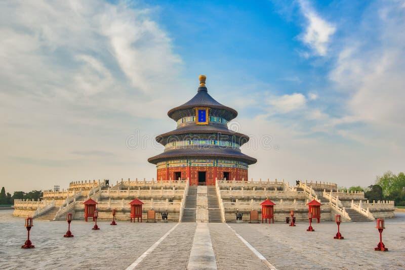 祷告的霍尔用好收获的在天坛在北京 免版税库存图片