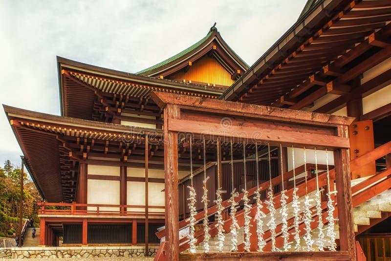 祷告纸和寺庙 免版税库存图片