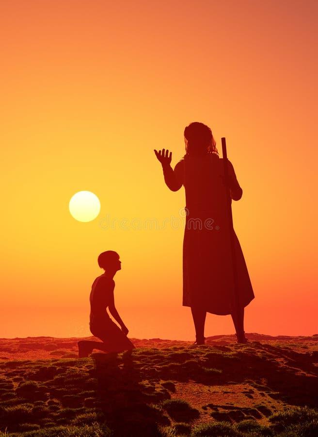 祷告 库存例证