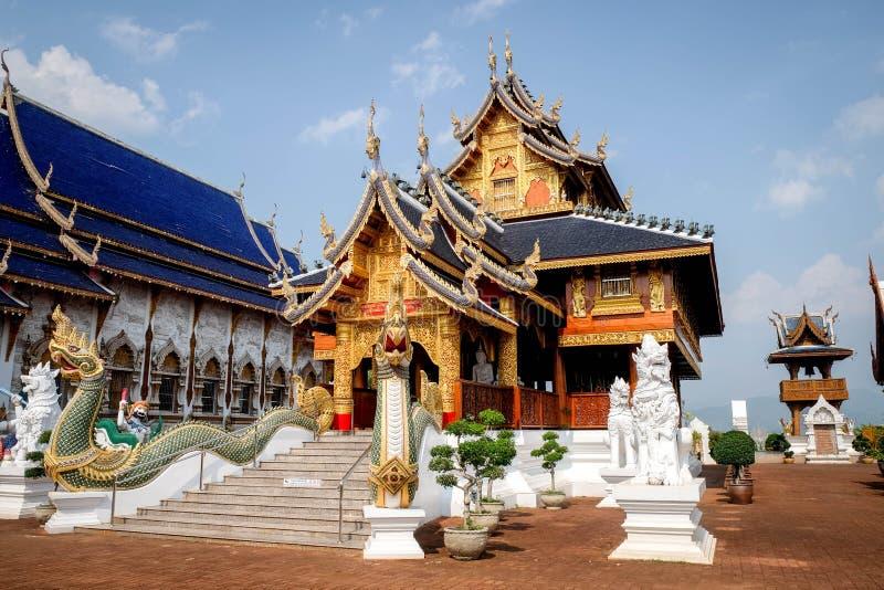 禁令小室寺庙是位于北的泰国寺庙 免版税库存图片