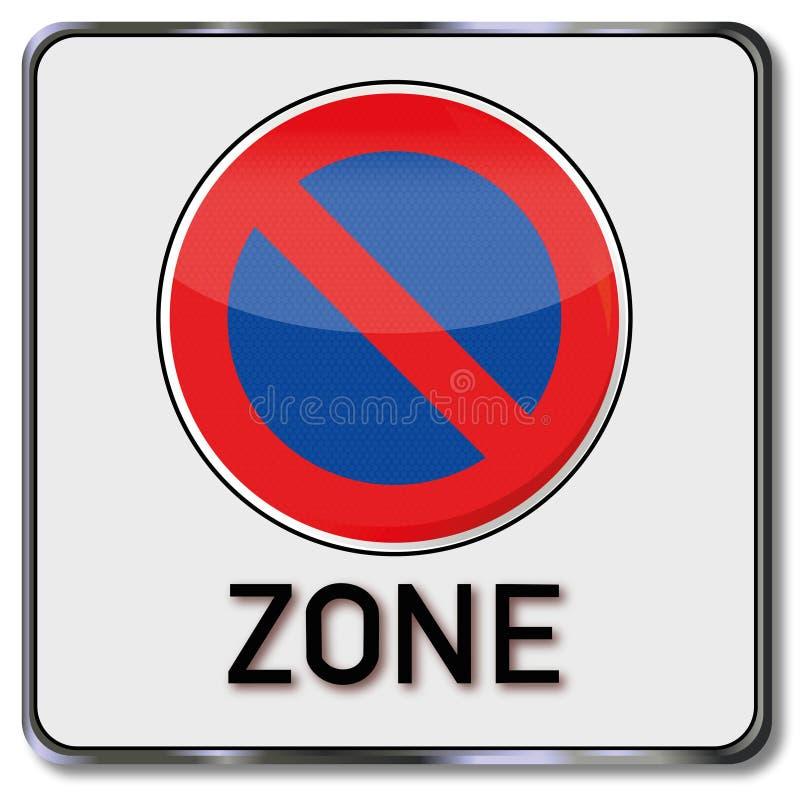 禁止停车区域 库存例证