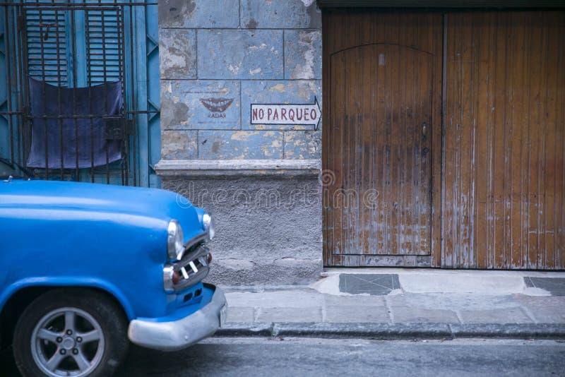 禁止停车在哈瓦那,古巴 库存图片