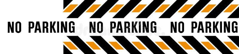 禁止停车横幅 库存照片