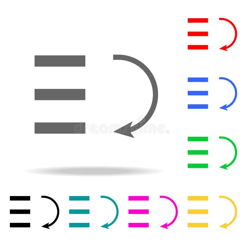 禁止图表下降的象 在多色的象的元素流动概念和网apps的 网站设计和develo的象 库存例证