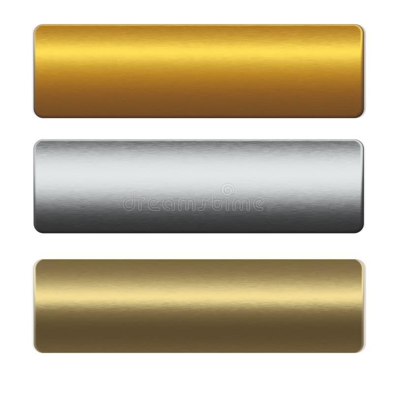 禁止收集金金属siilver 向量例证