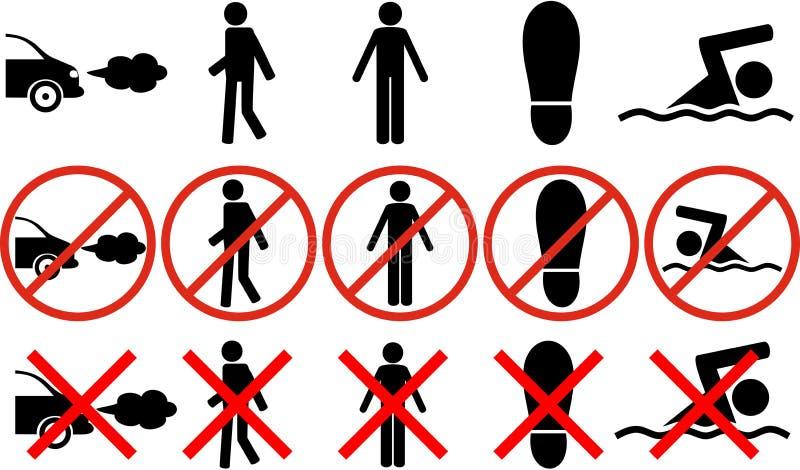 禁止标志和标志 库存例证
