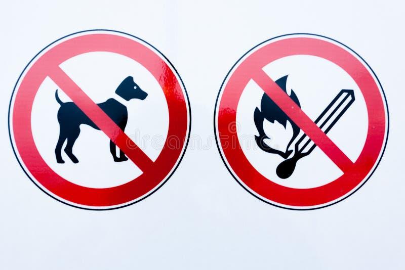 禁止标志的汇集 免版税库存图片