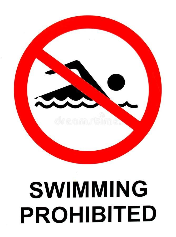 禁止的符号游泳 向量例证