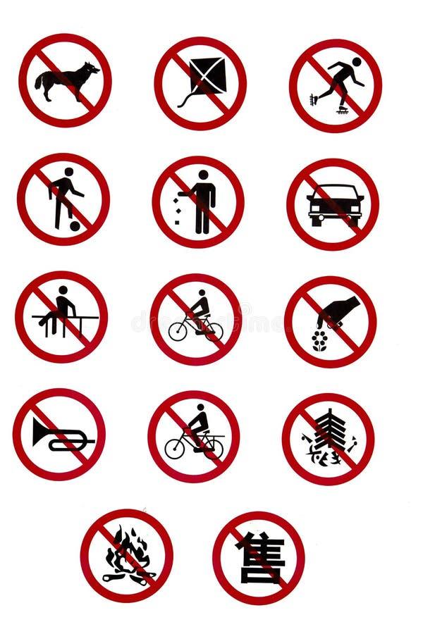 禁止的管理规定规则符号业务量 库存图片