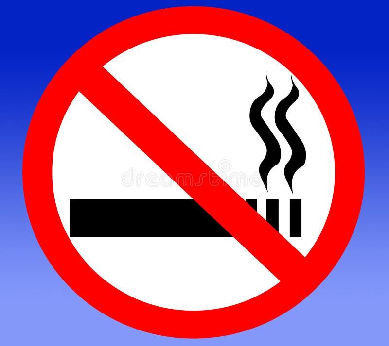 禁止的被取缔的香烟没有禁止的抽烟 皇族释放例证