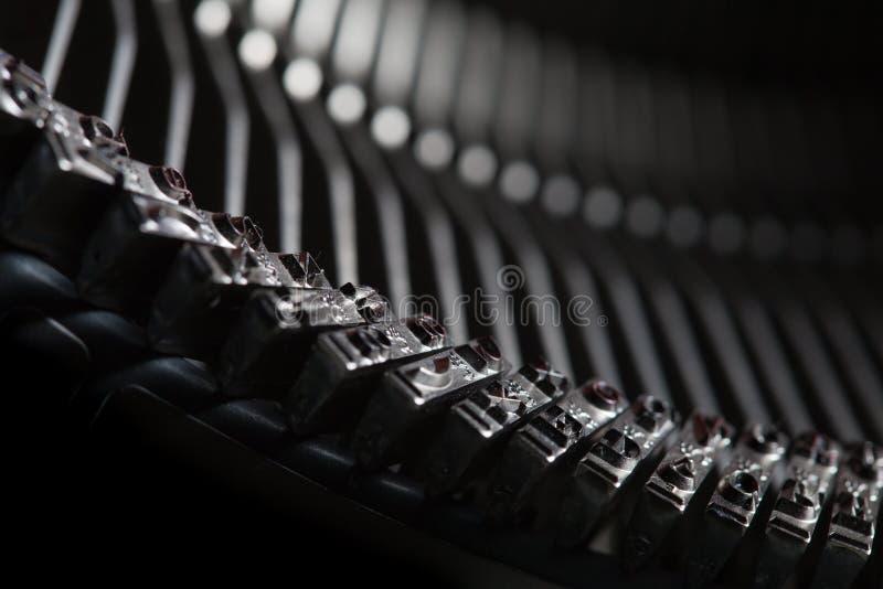 禁止老类型打字机 库存照片