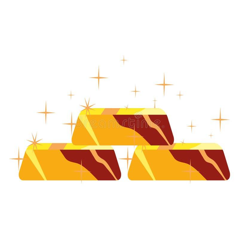 禁止被堆积的金子 库存例证