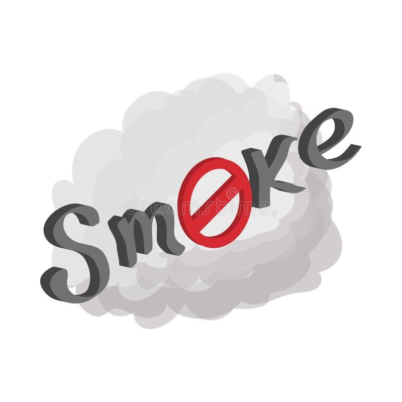禁烟标志象,动画片样式 库存例证