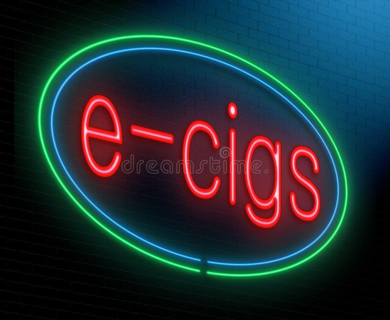 禁烟概念。 向量例证