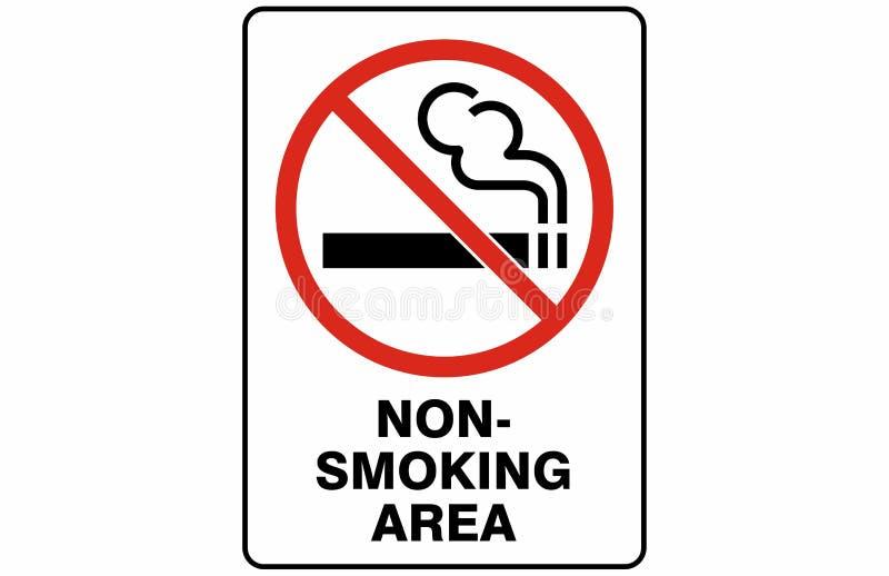 禁烟的区域标志标志传染媒介 免版税库存照片